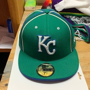Kansas City Royals Fitted New Era Hat Size 7 1/2